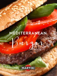 These Mediterranean burgers add an Italian twist to your summer BBQ. Prepare the grill (gas or charcoal). In a medium bowl, combine 2 lbs. ground beef, 1/3 cup MARTINI® Rosso, 1/4 cup lightly packed minced fresh basil, 1/4 cup minced red onion, 1/3 cup fresh Italian bread crumbs, 8 to 10 sun-dried tomatoes (drained and finely minced) and 2 tsp. garlic salt. Divide the meat into six patties. Brush the grill with vegetable oil. Cook patties 5-8 minutes on each side. Serve on sandwich rolls.