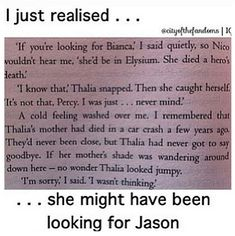 What is this from? Is it when Percy Thalia and Nico were on the quest in the underworld?