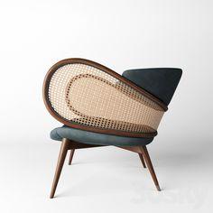 3d models: Arm chair - MUDHIF / ARMCHAIR Furniture Styles, Unique Furniture, Furniture Design, Vintage Furniture, Summer Deco, Rattan Furniture, Plywood Furniture, Deco Furniture, Sofa Design