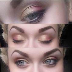 #makeup #fun #smink #Dagenssmink #makeupoftheday #pink #brown #black #gold #makeupaddict #eyemakeup #eyebrows #eyeshadow #eye #colours #eyes