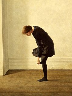 michael thompson, girl with a hole in her stockings