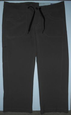 """Patagonia women's Sz 4 All Out gray capris pants Low rise Inseam 22"""" Stretch NWT #Patagonia #CaprisCropped"""