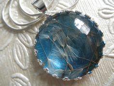 Dandelion Seed Victorian Crown Pendant Atop by giftforallseasons