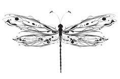 Abstrakt design dragonfly — Stockillustration #29235293