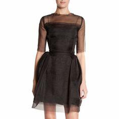 Lanvin Sheer Sleeve Dress #BarneysNY