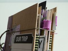 step-by-step view of a travel journal  I will make this when I make my road trip!