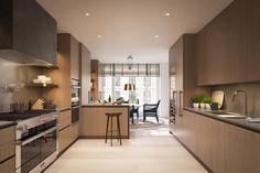 US$ 20 milhões / 470 m² = 70 Vestry,  Nova York, no bairro luxuoso de Tribeca - A cozinha conta com armários de carvalho e bancadas de mármore.
