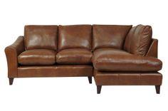 Perfect dog-proof sofa. Baslow Leather Corner Group - Right Hand #LauraAshleySS14