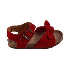 Suede sandals Bow Red Pèpè