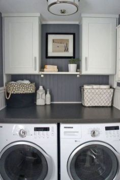 Small room design small space laundry room renovation small laundry garage laundry room remodel dream home . Laundry Room Remodel, Laundry Room Organization, Laundry Room Design, Basement Laundry, Household Organization, Basement Walls, Laundry Room Shelving, Laundry Room Colors, Closet Colors
