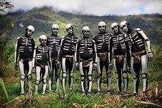 Papua New Guinea, by Timothy Allen. They were attending a 'Sing Sing'... http://en.wikipedia.org/wiki/Sing-sing