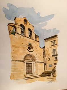 Castelvecchio Calvisio (AQ) Albania, Watercolors, Painting, Art, Watercolor Painting, Italia, Art Background, Water Colors, Painting Art