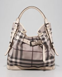 Burberry Belted Check Hobo