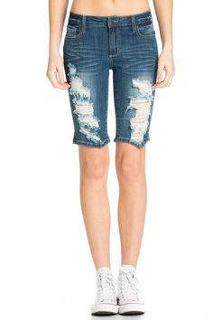 Tattered Summer Denim Bermudas
