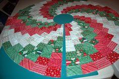 Peppermint Swirl Christmas Tree Skirt « Moda Bake Shop