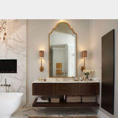 BRADLEY USA │Custom Mirrors │Iron frames in any size and shape | Wendy Mirror │Contact sales@Bradley-USA.com for a quote of your size or shape #bradleyusa #bathroommirrors #powderroom #mirrors