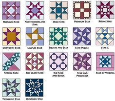 9-inch star blocks from 501 Rotary-Cut Quilt Blocks (more on the link)