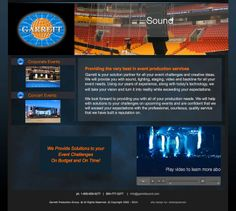 event production services corporate and concert website html http://garrettsound.com