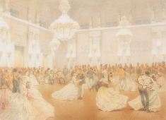 """""""Ball in the Concert Hall of the Winter Palace during the Official Visit of Nasir al-Din Shah"""" by Mihaly Zichy, 1874 Aesthetic Art, Aesthetic Pictures, Winter Palace, Concert Hall, Cute Art, Nostalgia, Abstract, World, Artist"""