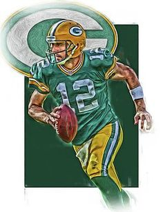 Joe Hamilton - Aaron Rodgers GREEN BAY PACKERS OIL ART