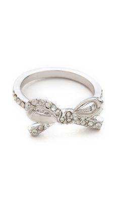 Kate Spade New York Skinny Mini Pave Bow Ring