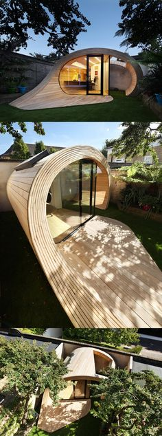 Shoffice (shed + office) Garden Pavilion #architecture