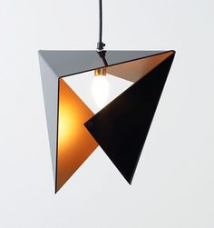 New Origami Lamp Shape Design Ideas Interior Lighting, Home Lighting, Modern Lighting, Lighting Design, Modern Lamps, Deco Luminaire, Luminaire Design, Light Fittings, Light Fixtures