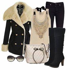 Wooow!!! Excelente #look de invierno! Que opinan??? www.yoamoloszapatos.com   Yo Amo los Zapatos
