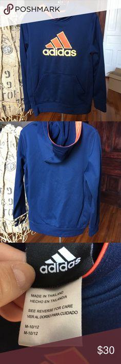 5e79bd0331b359 Adidas pullover sweatshirt hoodie EUC medium 10-12