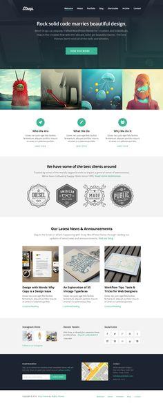 Strap - WordPress Theme #design #web #ux