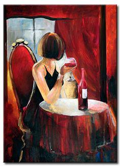 Pop Art on Canvas Abstract Art Oil Painting. Art Du Vin, Pop Art, Mode Poster, L'art Du Portrait, Wine Painting, Wine Art, Art Oil, Art Paintings, Lovers Art