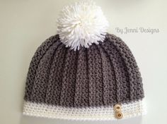 By Jenni Designs: Free Crochet Pattern: Women's Ribbed Hat
