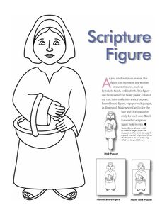 Woman scripture figure - make into puppet