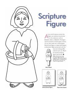 Woman scripture figure - make into puppet