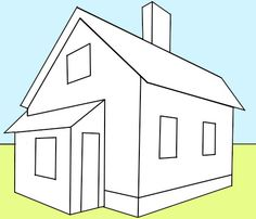 How To Draw A House With Easy 2 Point Perspective Techniques   How To Draw  Step By Step Drawing Tutorials