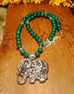 Grab them now! Very long, pure malachite,  silver and crystal elephant, bohemian statement necklace, green malachite necklace, long boho necklace, silver on my Etsy shop ✨ https://www.etsy.com/listing/566465969/very-long-pure-malachite-silver-and?utm_campaign=crowdfire&utm_content=crowdfire&utm_medium=social&utm_source=pinterest