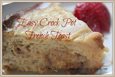 Easy Crock Pot French Toast #dairyfree #breakfast #crockpot