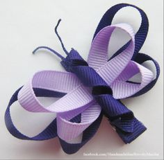 Butterfly Ribbon Sculpture [double ribbon]