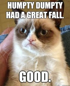 Grumpy Cat on Humpty Dumpty