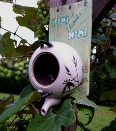 In this video I will show you how to make a bird house/nest box from a thrifted tea kettle.