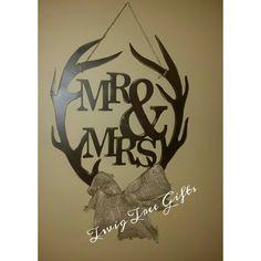 Mr & Mrs antlers, great door hangers and a great wedding gift