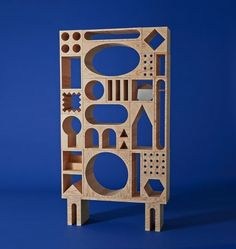 Stenciled Building Block Furniture Erik Olovsson and Kyuhyung Cho's ROOM Collection is Playful