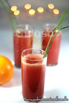 Suco de Melancia com Capim Cidreira » Bebidas, Receitas Saudáveis » Guloso e Saudável