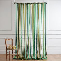 Ribbon Curtain Backdrop Woodland Greens - bunting & garlands