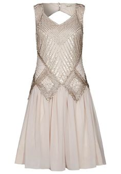 Frock And Frill Cocktail Dress Party Dress Beige