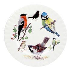 Garden Birds Tallerken 20 cm. #Fugle #SPB #Smagpåbordet