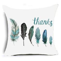 Colorful Polyester Feather Cushion Cover