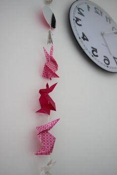 Guirlande lapin origami par LaureDaintyArt sur Etsy