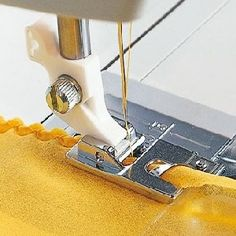 Narrow Hems In One Step Use the Husqvarna Viking Shell Rolled Hem Foot to stitch a rolled hem in sheer and very lightweight fabrics for evening wear, lingerie, scarves, etc. Use the Husqvarna Viking Shell Rolled Hem Foot for the . Sewing Machine Presser Foot, Viking Sewing Machine, Sewing Machine Parts, Sewing Art, Sewing Tools, Sewing Notions, Sewing Basics, Sewing Hacks, Sewing Tutorials