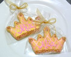 Royal Princess Crown Tiara Sugar Cookie Favor Custom Decorated Gourmet Cookie Girl Birthday Girl Baby Shower Bachelorette Cook Dessert Table